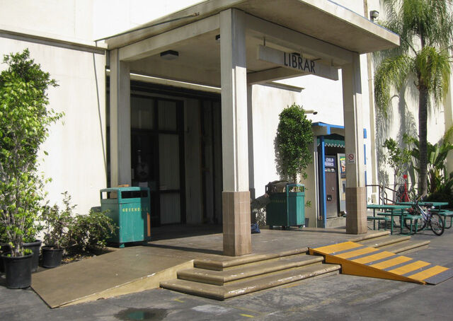 File:Library back entrance.jpg