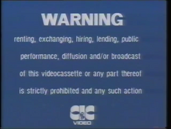 First CIC Video warning screen (second variant (3))
