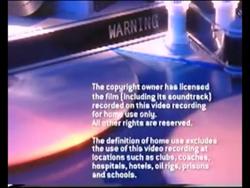 Paramount Home Entertainment 2003 Closing Warning Scroll Part 1