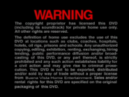 BUENA VISTA HOME ENTERTAINMENT 2000 DVD WARNING SCREEN