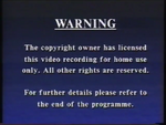 Third CIC Video warning screen