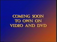 20th Century Fox Home Entertainment Coming Soon to Own on Video and DVD 2001 Bumper