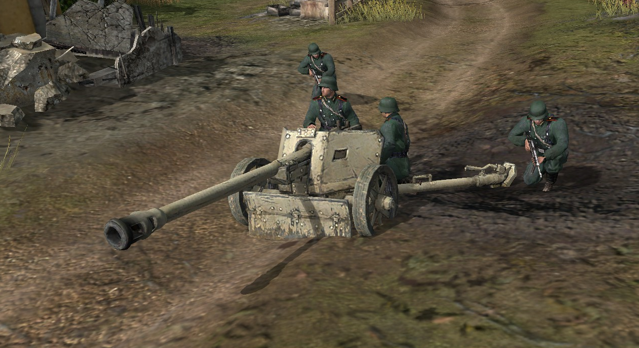 German 50 Mm Anti Tank Gun: Pak 40 7.5cm Anti-tank Gun