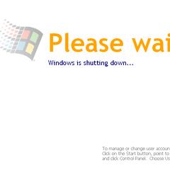 Whistler's shut down splash screen