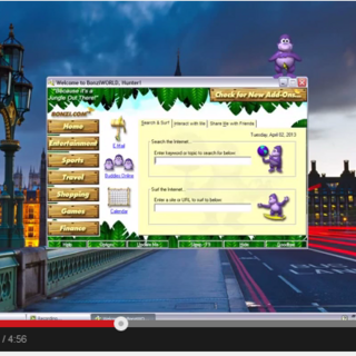 BonziWorld, which was included in later versions of Bonzi Buddy.