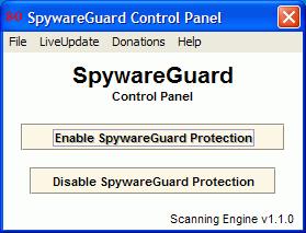 File:SpywareGuard control panel.png