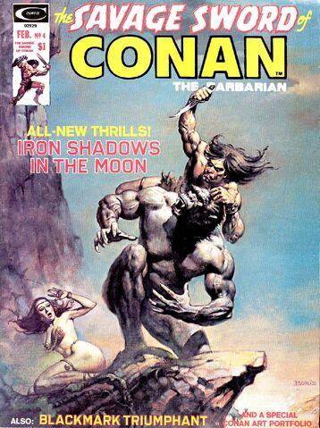 File:-4 febrero 1975 . Sombras de hierro en la Luna. Guión de Roy Thomas, lápices de John Buscema, tintas de Alfredo Alcalá..jpg