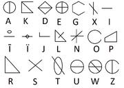 GoroVetrian alphabet