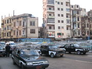 Black and white taxis in Cairo