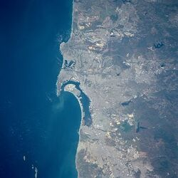 San Diego Bay from space