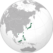 Locator Map of the Empire of Japan