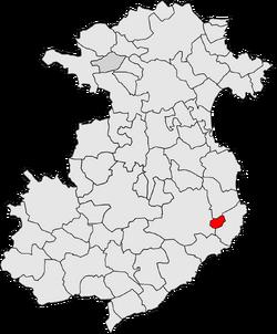 Llofriu municipality map.png