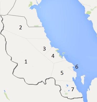 Qatif map numbered