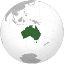 Australia (orthographic projection)