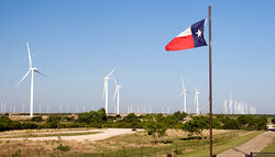 Wind farm in rural Brazoria