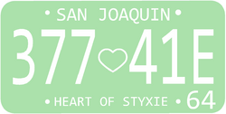 1964 San Joaquin license plate