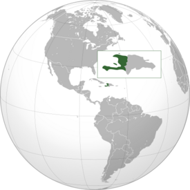 Haiti (Orthographic Projection)