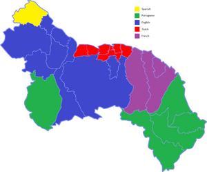 Leguajes map in Great Guayana Republic