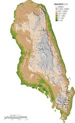 Frecia relief map