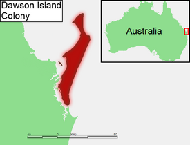 Location of Dawson Island