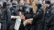 Russia Protestor