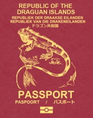 Draguanpassport iguana leather