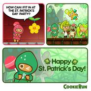 Cookie Run St Patrick Day