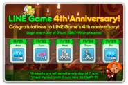 Present Time LINE Game 4th Anniversary