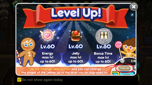Level up upgrades event 60