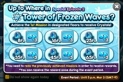Up to where have you run today? - Tower of Frozen Waves