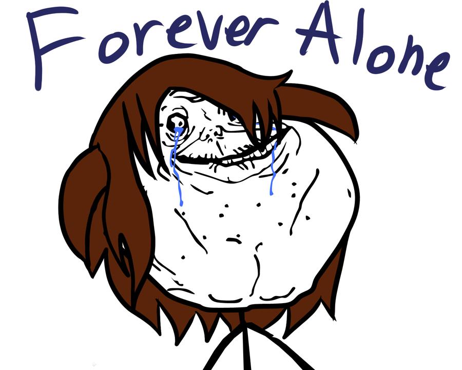 forever alone girl meme