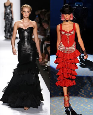 Corset-gown-from-carolina-herreraleft-and-betsey-johnson0right-spring-2009-at-fashion-week