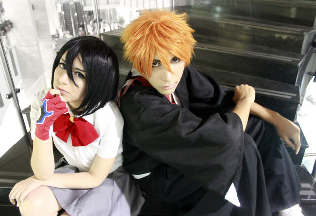 File:Kuchiki rukia and kurosaki ichigo cosplay bleach by sailormappy-d5s47ho.jpg