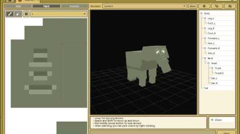 Creating an Elephant model with CraftStudio (timelapse video)