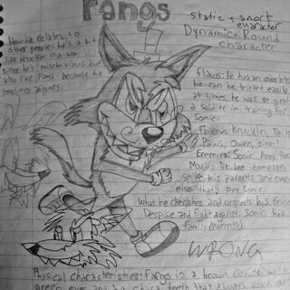Old Fangs bio for Lippies V.1 (ignore the random vandalism, that was from later on).