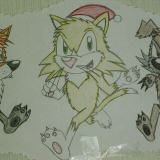 Redrawn version of the last image, minus the Christmas hats. (Except Ondelez because he always worse one back then).