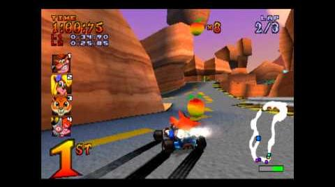 Dingo Canyon - Trophy Race - Crash Team Racing - 101% Playthrough (Part 9)