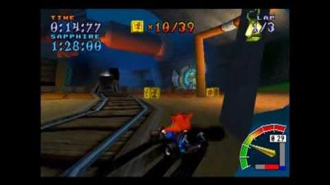Dragon Mines - Platinum Relic - Crash Team Racing - 101% Playthrough (Part 51)