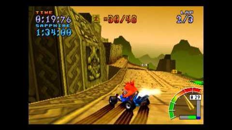 Papu's Pyramid - Platinum Relic - Crash Team Racing - 101% Playthrough (Part 48)