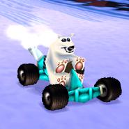 Polar in his kart