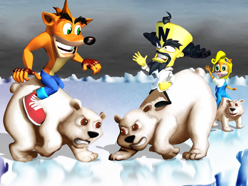 crash bash polar push artwork
