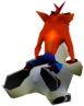 Crash Bandicoot riding Polar Crash 2