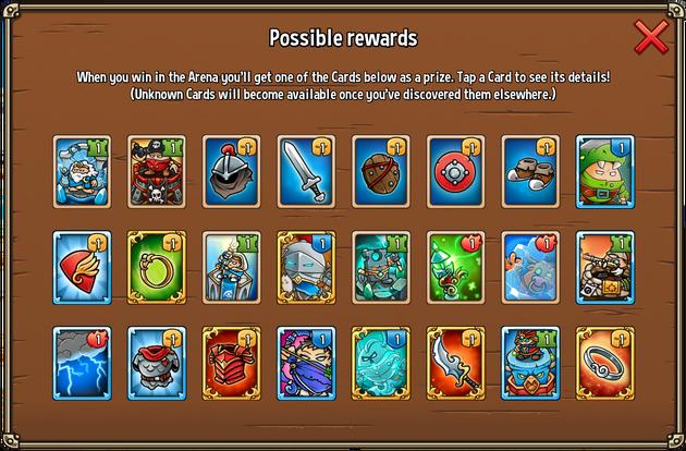 Undead Arena Rewards