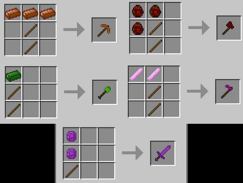 Tool recipes