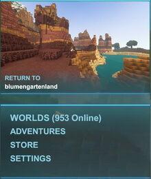 Creativerse menu with adventures001