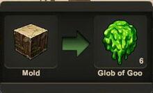 Creativerse Goo made from Mold