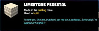 Creativerse tooltips R40 091 limestone blocks crafted