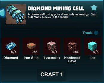 Creativerse R41 crafting recipes diamond mining cell01