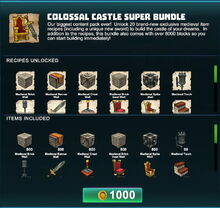 Creativerse Colossal Castle super bundle R41 01