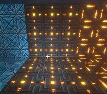 Creativerse Aztec Furnace Wall glows now001